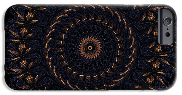 Mandala Photographs iPhone Cases - Blue Velvet 4 iPhone Case by Rhonda Barrett
