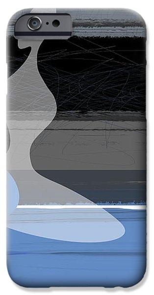 Blue women iPhone Case by Naxart Studio