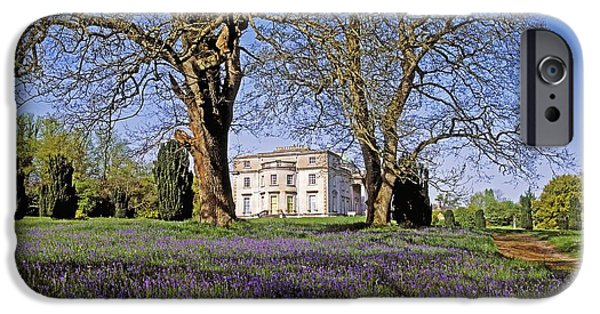 Garden Statuary iPhone Cases - Bluebells In The Pleasure Grounds, Emo iPhone Case by The Irish Image Collection