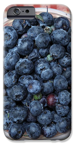 Blueberries - 5D17825 iPhone Case by Wingsdomain Art and Photography