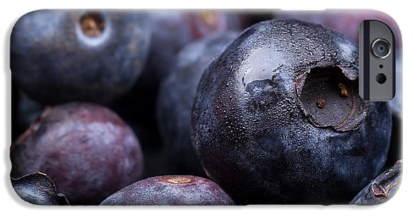Crops iPhone Cases - Blueberry background iPhone Case by Jane Rix