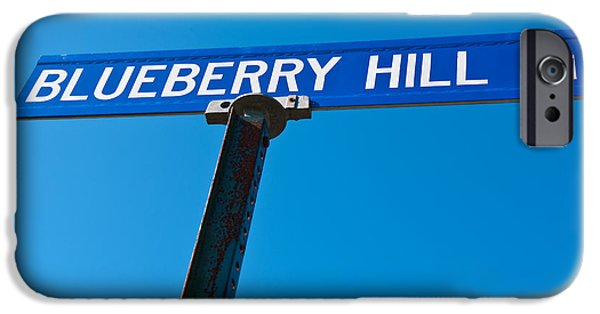 Blueberries iPhone Cases - Blueberry Hill Sign iPhone Case by Steve Gadomski