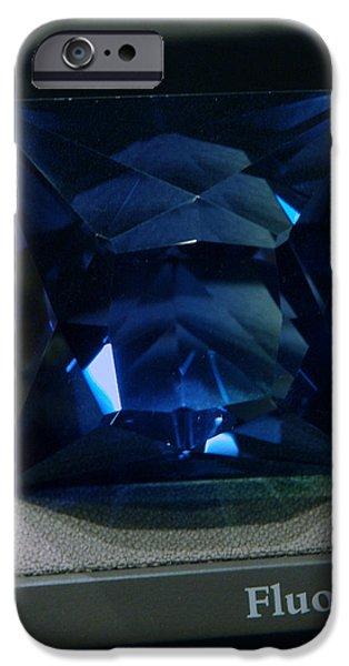 Smithsonian Museum iPhone Cases - Bluetiful Fluorite iPhone Case by LeeAnn McLaneGoetz McLaneGoetzStudioLLCcom