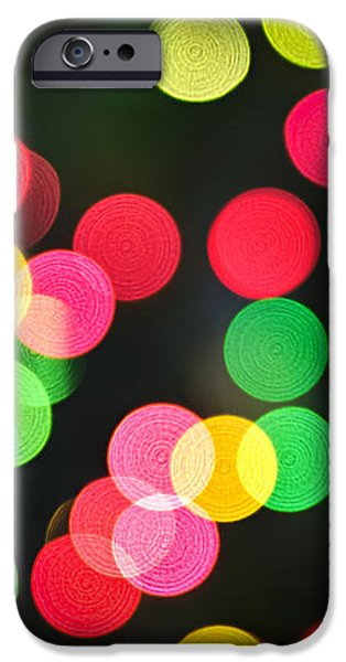 Blurred Christmas lights iPhone Case by Elena Elisseeva