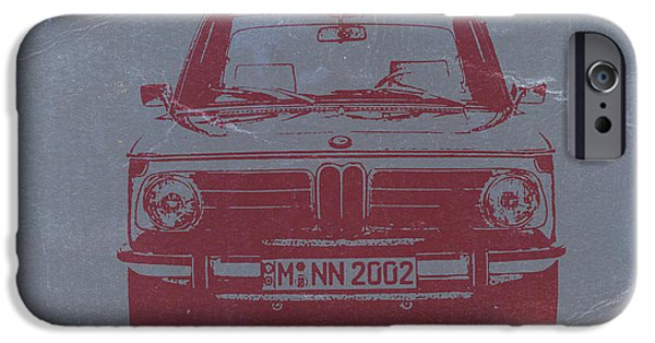 Vintage Cars iPhone Cases - Bmw 2002 iPhone Case by Naxart Studio