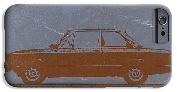 Vintage Cars iPhone Cases - BMW 2002 Orange iPhone Case by Naxart Studio
