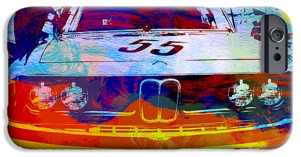 Vintage Cars iPhone Cases - BMW Racing iPhone Case by Naxart Studio