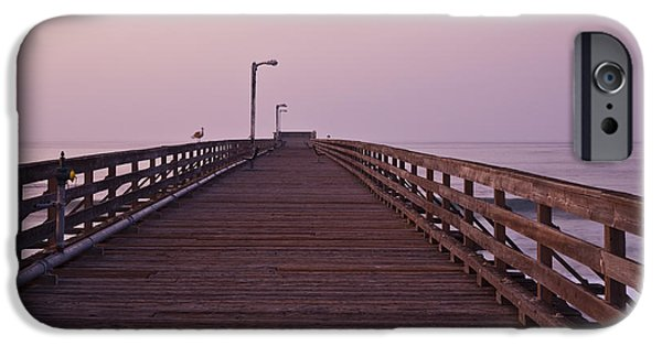 Beach At Night iPhone Cases - Boardwalk at Dawn iPhone Case by David Buffington