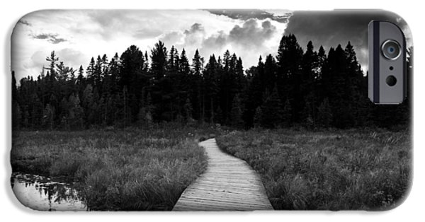 Black And White Landscapes iPhone Cases - Boardwalk iPhone Case by Cale Best