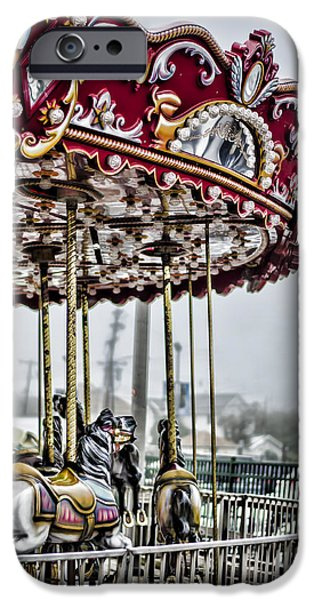 Bay Head Beach iPhone Cases - Boardwalk Carousel iPhone Case by Heather Applegate