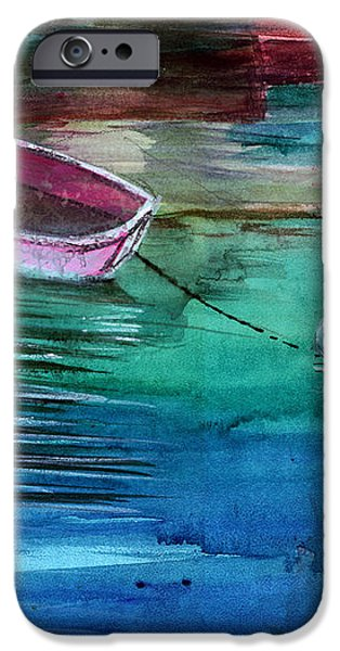 Boat and the buoy iPhone Case by Anil Nene