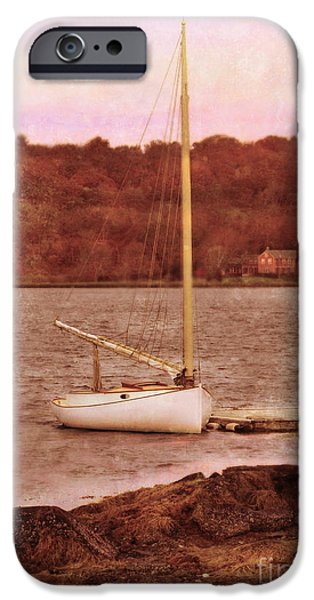 Boat Docked on the River iPhone Case by Jill Battaglia