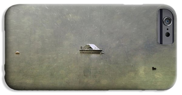 Winter Storm iPhone Cases - Boat In The Snow iPhone Case by Joana Kruse