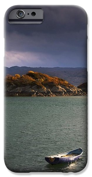 Design Pics - iPhone Cases - Boat On Loch Sunart, Scotland iPhone Case by John Short