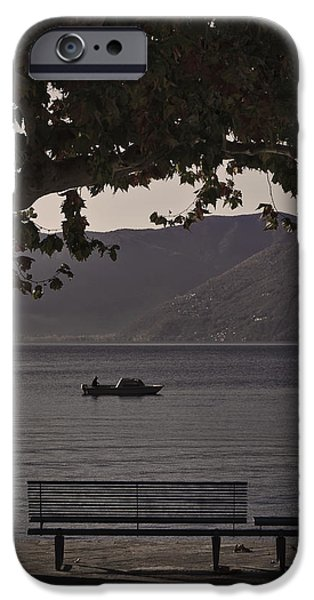 boat on the Lago Maggiore iPhone Case by Joana Kruse