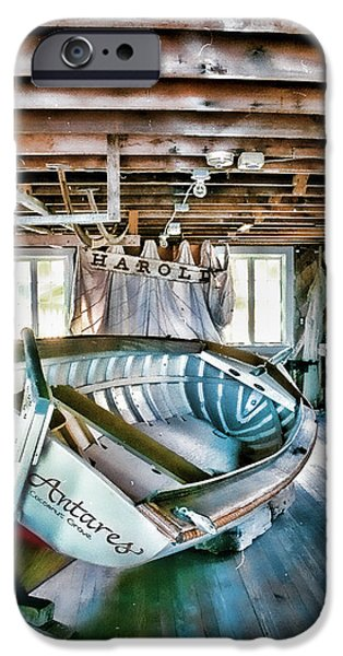 Boathouses iPhone Cases - Boathouse iPhone Case by Heather Applegate