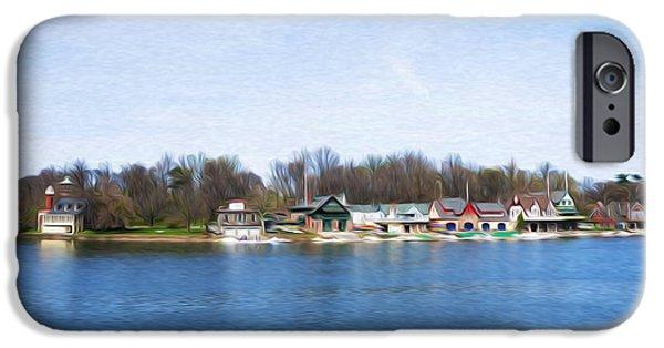 Boathouses iPhone Cases - Boathouse Row at the Bend iPhone Case by Bill Cannon