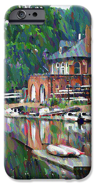 Boathouse Row in Philadelphia iPhone Case by Bill Cannon