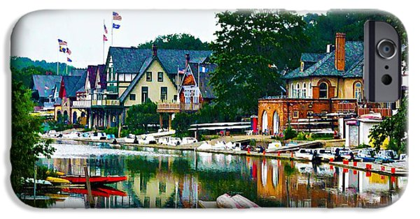 Boathouses iPhone Cases - Boathouse Row in Philly iPhone Case by Bill Cannon