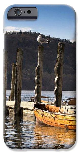 Boats Docked On A Pier, Keswick iPhone Case by John Short
