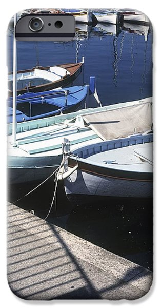 Boats In Harbor iPhone Case by Axiom Photographic