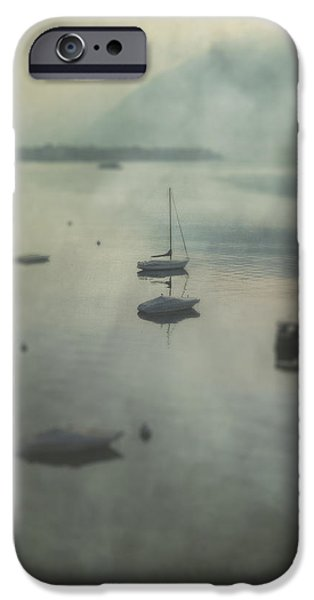 Boat iPhone Cases - Boats In Mist iPhone Case by Joana Kruse