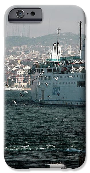 Boats on the Bosphorus iPhone Case by John Rizzuto