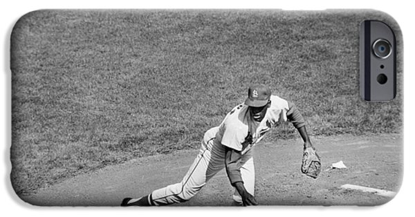 Pitchers Glove iPhone Cases - Bob Gibson (1935- ) iPhone Case by Granger