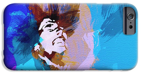 Bob Paintings iPhone Cases - Bob Marley 3 iPhone Case by Naxart Studio