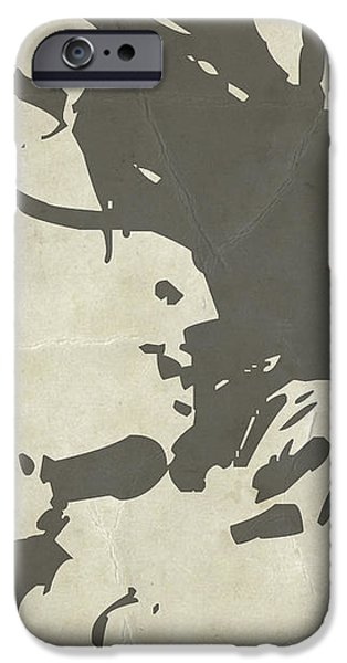 Bob Marley Grey iPhone Case by Naxart Studio