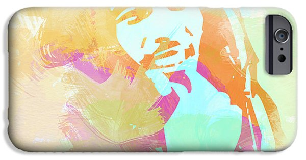 Sheriff iPhone Cases - Bob Marley iPhone Case by Naxart Studio