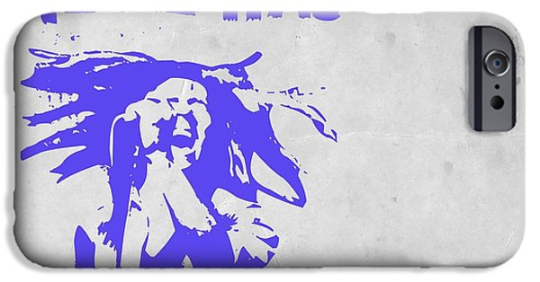 Bob Marley Portrait iPhone Cases - Bob Marley Purple 2 iPhone Case by Naxart Studio