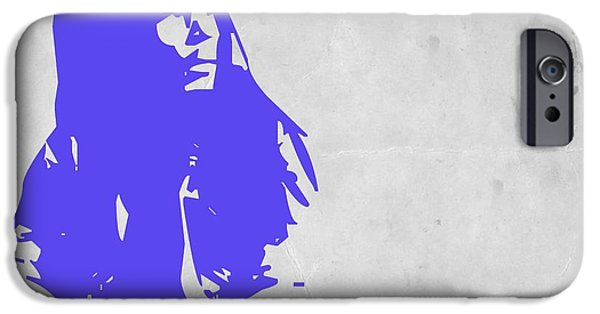 Bob Marley Portrait iPhone Cases - Bob Marley Purple iPhone Case by Naxart Studio