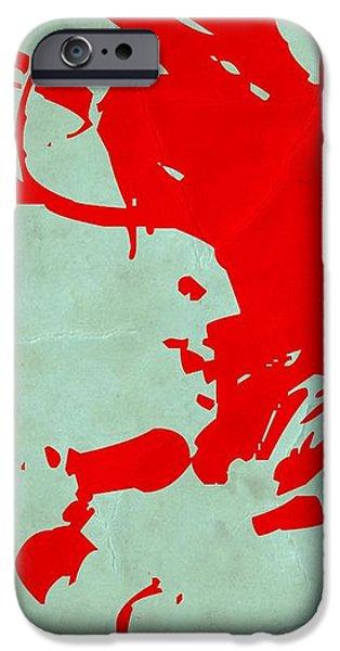 Bob Marley Red iPhone Case by Naxart Studio
