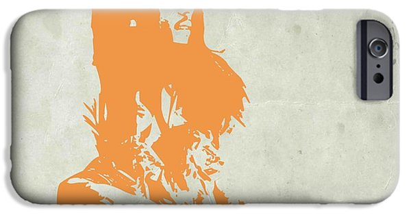 Famous Musician iPhone Cases - Bob Marley Yellow 4 iPhone Case by Naxart Studio