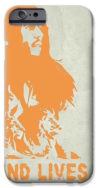 Bob Marley Yellow 4 iPhone Case by Naxart Studio