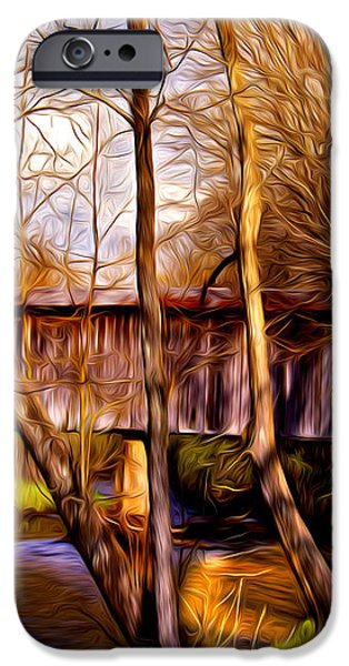 bob white covered bridge iPhone Case by Lisa and Norman  Hall