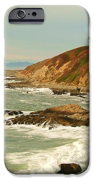 Bodega Bay coastline  one iPhone Case by Alberta Brown Buller