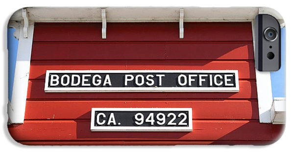 Bodega Bay iPhone Cases - Bodega Post Office . Bodega Bay . Town of Bodega . California . 7D12465 iPhone Case by Wingsdomain Art and Photography