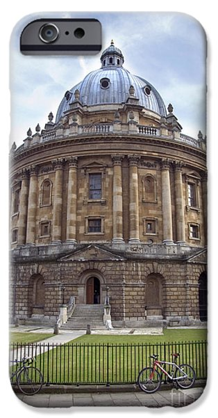 Power iPhone Cases - Bodlien Library Radcliffe Camera iPhone Case by Jane Rix