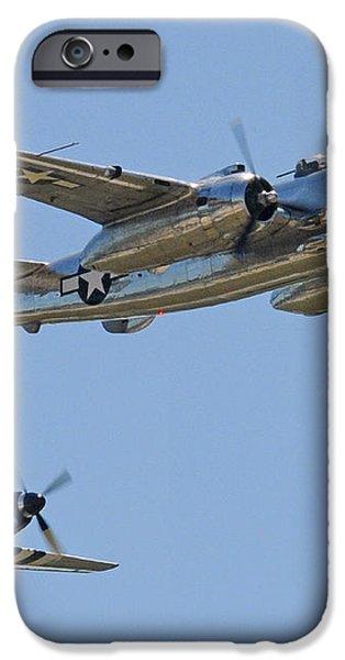 Bomber Escort iPhone Case by Jeff Stallard