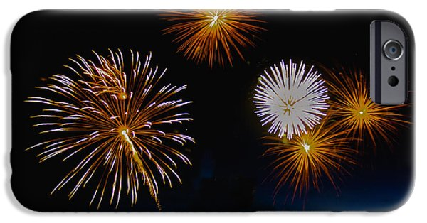 Fireworks iPhone Cases - Bombs Bursting In The Air iPhone Case by Robert Bales