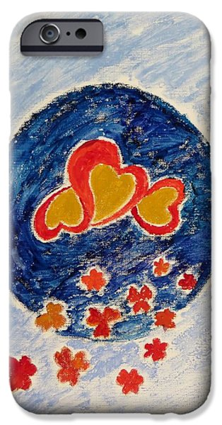Bonding Paintings iPhone Cases - Bonding iPhone Case by Sonali Gangane
