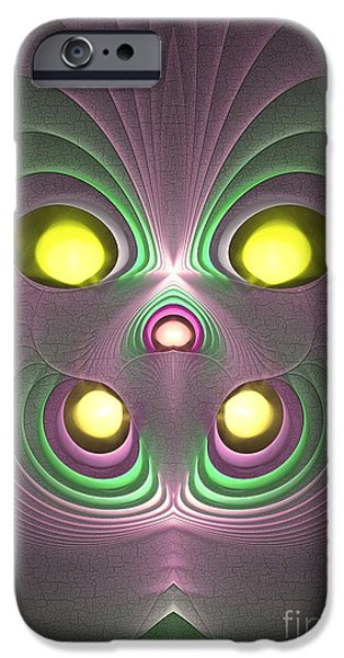 Graphic Design iPhone Cases - Boogeyman iPhone Case by Sipo Liimatainen
