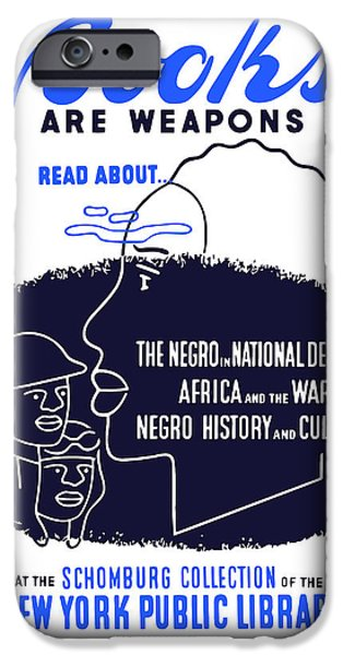 African-americans iPhone Cases - Books Are Weapons iPhone Case by War Is Hell Store