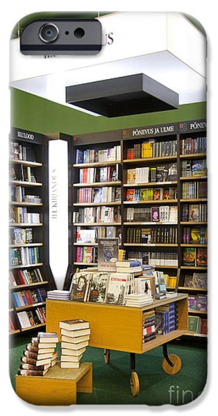 Bookcase iPhone Cases - Bookstore Section iPhone Case by Jaak Nilson