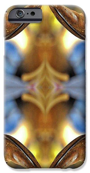 Boots Kaleidoscope iPhone Case by Joan Carroll