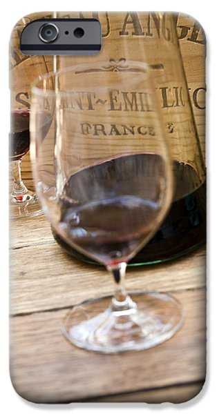 Cellar iPhone Cases - Bordeaux Wine Tasting iPhone Case by Frank Tschakert