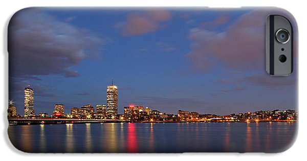 Charles River iPhone Cases - Boston at Twilight iPhone Case by Juergen Roth