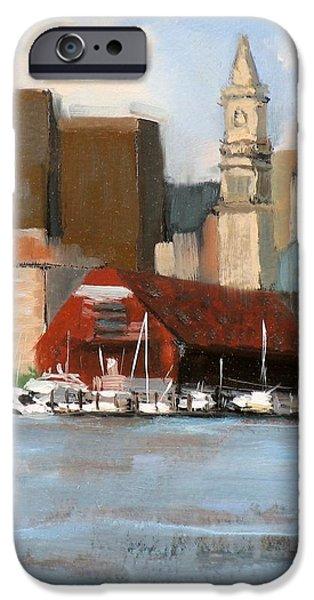 Boston Harbor iPhone Case by Laura Lee Zanghetti